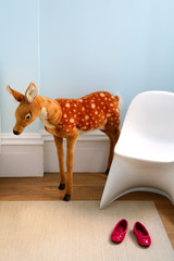 Stuffed deer in child's room