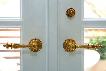 Detail of door handles
