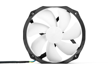 Computer DC fan isolated on white