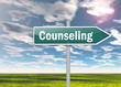 """Signpost """"Counseling"""""""
