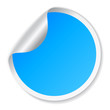 Blue vector sticker