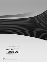 Presentation of business poster. Design layout template des