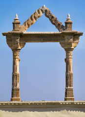 Archway at the City Palace in Udaipur in Rajasthan in western In