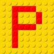 Letter P in construction kit.