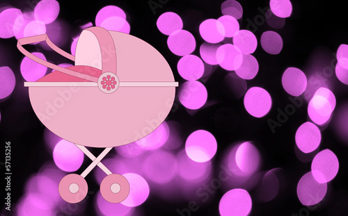 pink gender reveal and it's a girl illustration
