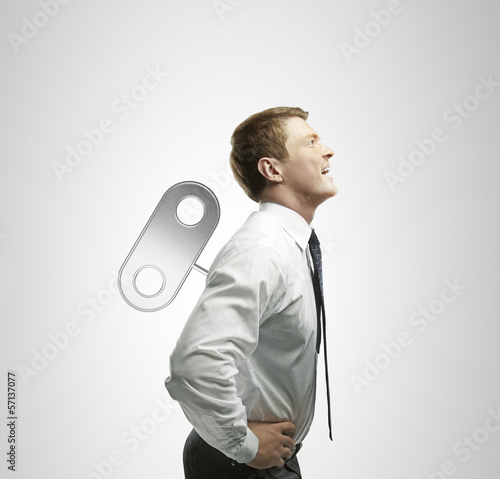 businessman with winder