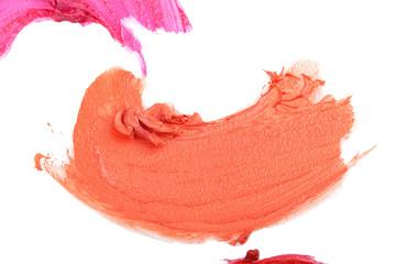 Smudged lip gloss