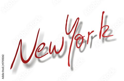 New York, Handschrift