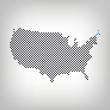 Maine in USA Karte punktiert
