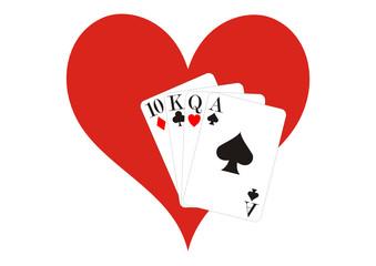 Pokern mit Herz
