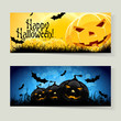Set of Halloween Banners