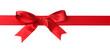 Leinwanddruck Bild - Red bow isolated on white
