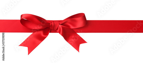Red bow isolated on white - 57139898