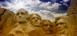 Colors of the sky above Mount Rushmore - South Dakota