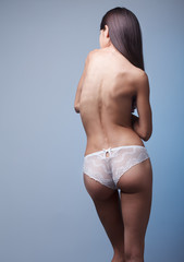 sexy naked woman from behind