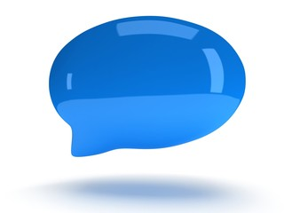 3d blank speech bubble