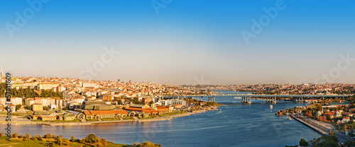 panorama golden horn at Istanbul. Turkey