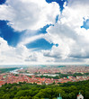 Colorful landscape of Prague (Praha), capital of the Czech Repub