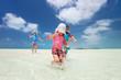 Family at tropical vacation