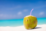 Coconut on a tropical beach