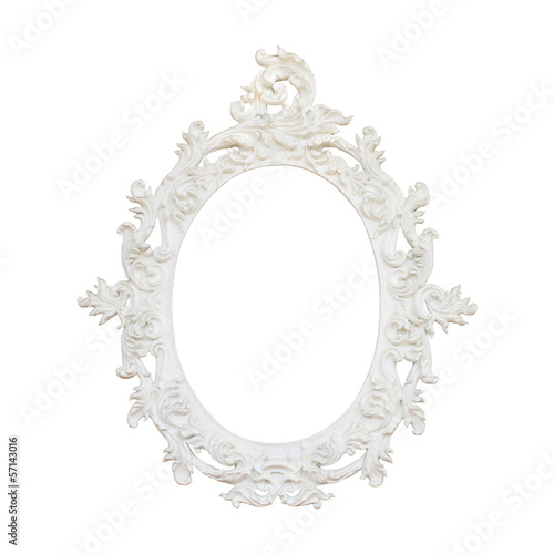 Vintage floral frame isolated on white background