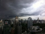 Storm over Bangkok skyline