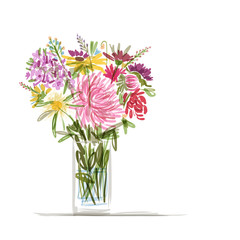 Floral summer bouquet for your design