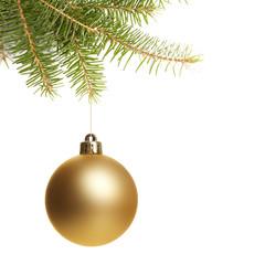 Weihnachtskugel gold