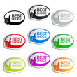 Vector best choice oval bubbles with gesture hand