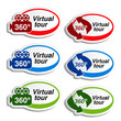 Vector oval stickers for virtual tour