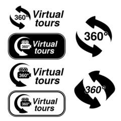 Vector symbols for virtual tour