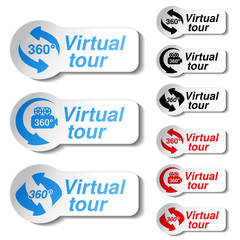 Vector buttons for virtual tour