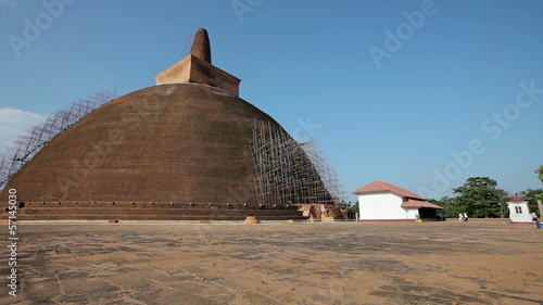 Landmark of Sri Lanka - an ancient Buddhist dagoba