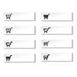 Vector buttons of shopping cart, trolley, item