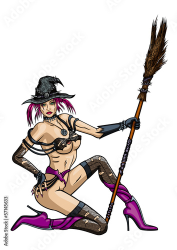 Striptease dancer  Witch