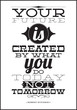 Постер, плакат: Your future is created by what you do today not tomorrow