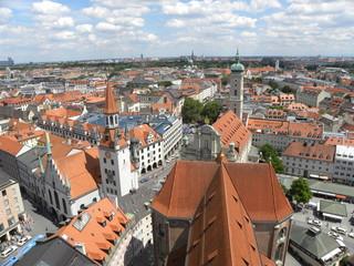 München Innenstadt Luftaufnahme
