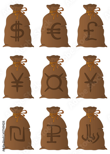 Bags with money