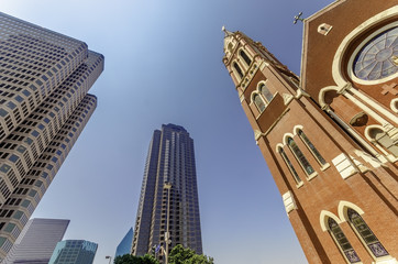 Cathedral and Skyscrapers
