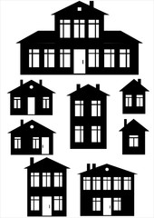 house icon set isolated on white background