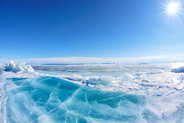 Winter Baikal lake