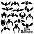 Bat silhouettes.