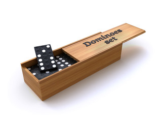 dominoes in a box