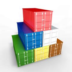 Container di metallo da trasporto a piramide