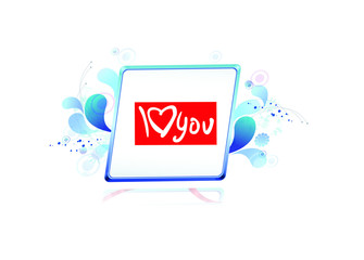 bulletin board and i love you card