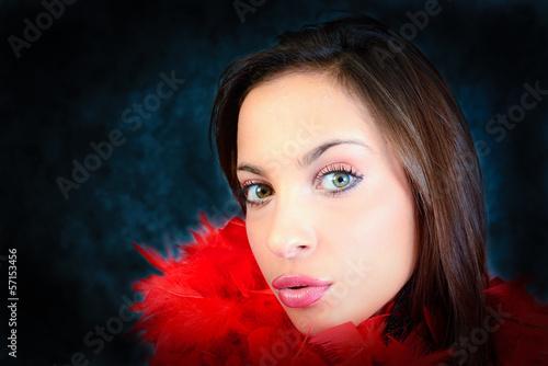 red boa girl
