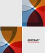 Colorful geometrical modern art minimal template