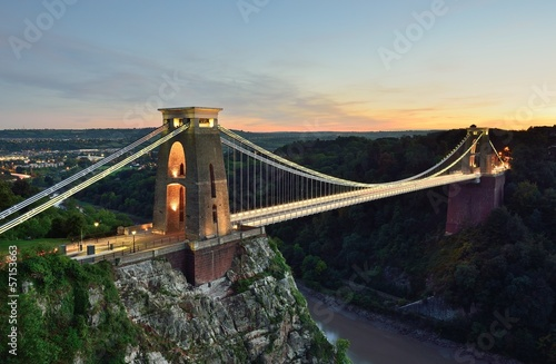 Fotobehang Openbaar geb. Clifton suspension bridge