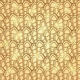 Abstract Brown Geometric Seamless Pattern