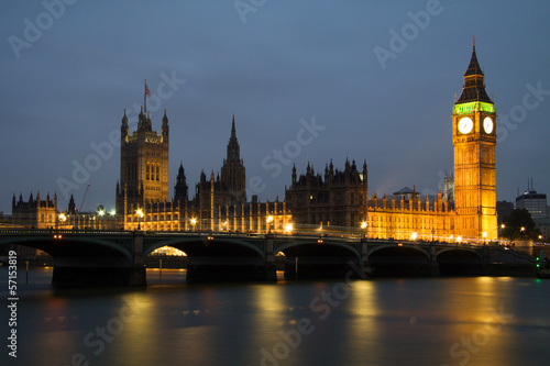 Westminster Abbey with Big Ben, London